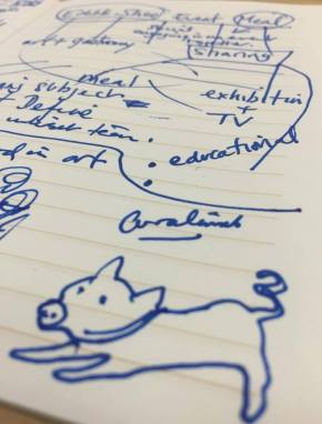 Notes / sketch by Eleanor Gates-Stuart