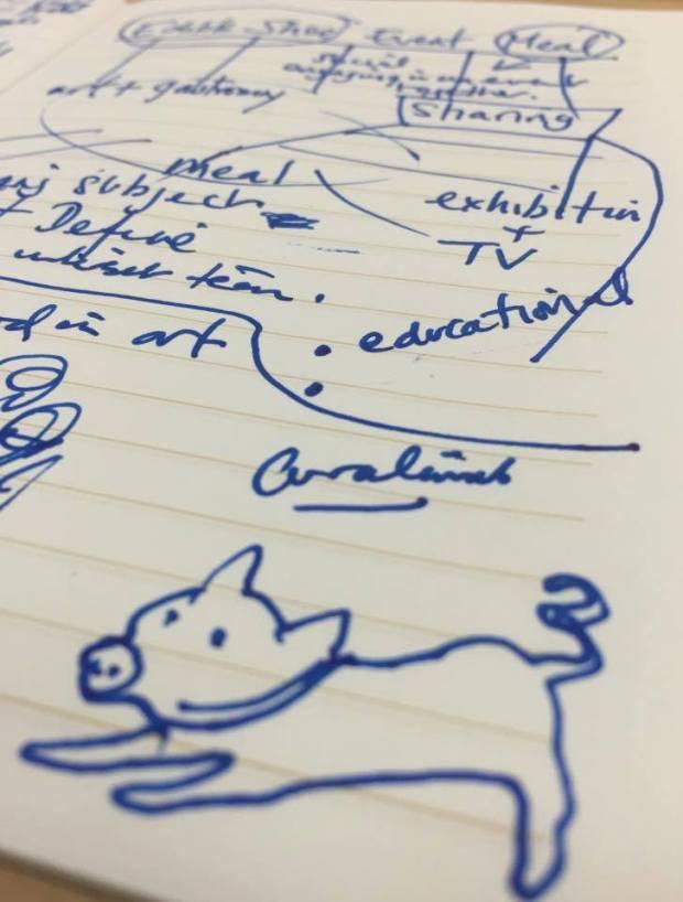 Notes / sketch by Eleanor Gates-Stuart