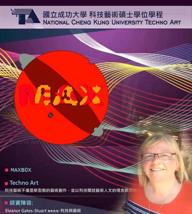 Professor Eleanor Gates-Stuart at MAXB0X @ NCKU Techno Art