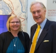 Artist, Dr Eleanor Gates-Stuart with the Chair of the National Archives Advisory Council, Dr Denver BeanLand