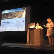 Artist, Dr Eleanor Gates-Stuart at the Visualisation, Big Data, Art + Science Festival 2016. Organised by Dr Tomasz Bednarz